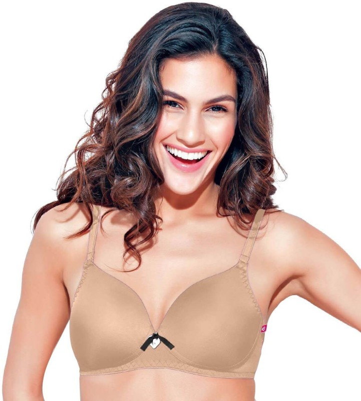 Enamor by Enamor Womens Full Coverage Bra(Beige)