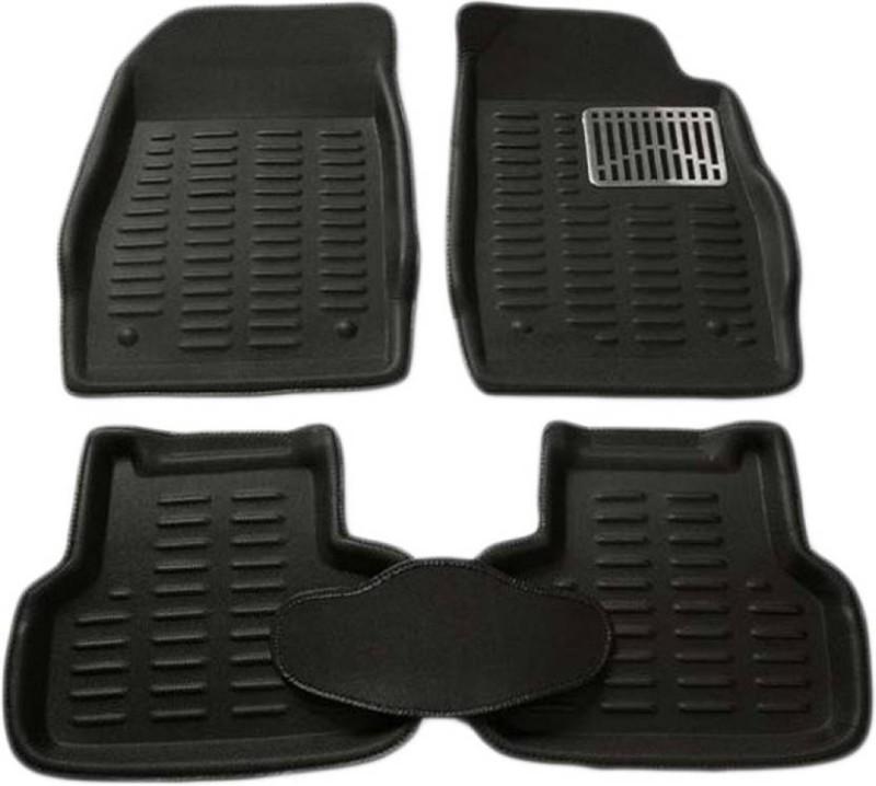 A K Online Services Plastic Standard Mat For Hyundai Verna Fluidic(Black)