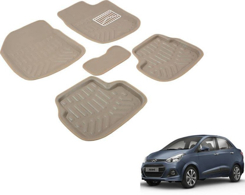 A K Online Services Plastic Standard Mat For Hyundai Xcent(Beige)