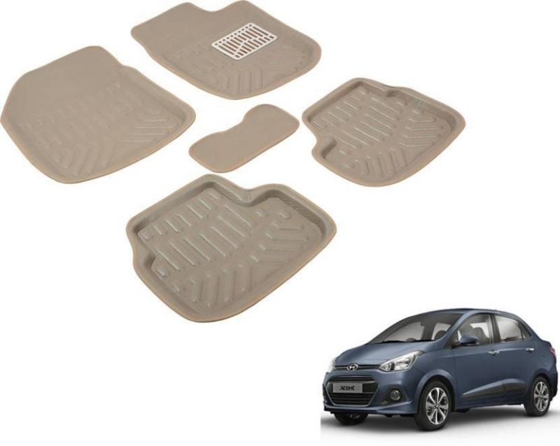 A K Online Services Plastic Standard Mat For Hyundai Xcent(Beige)