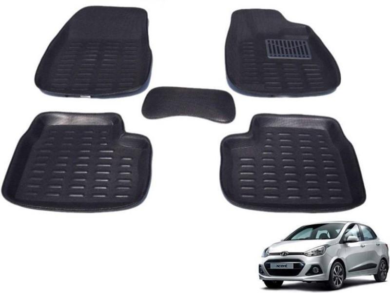 A K Online Services Plastic Standard Mat For Hyundai Xcent(Black)
