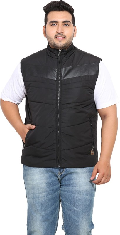 John Pride Sleeveless Solid Mens Casual Jacket
