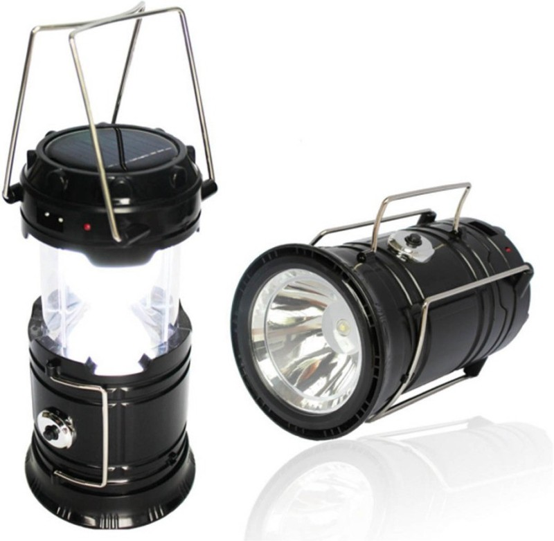 Mantavya Rechargeable Solar 220V Camping Lantern Light with Power Bank Tent LED...