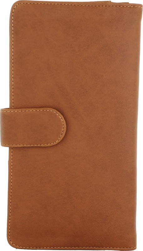 Fantosy Women Tan Artificial Leather Document Holder(6 Card Slots)
