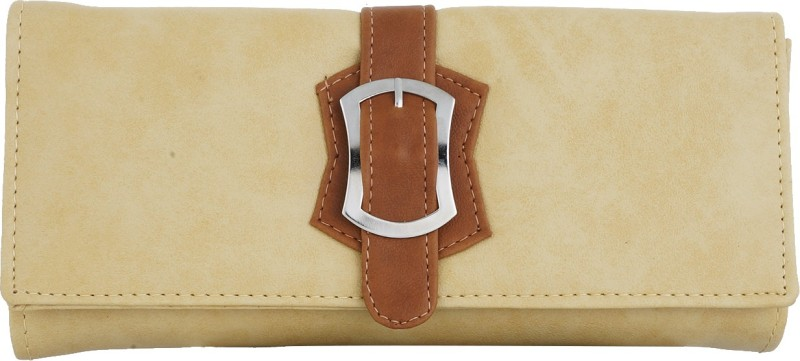 Fantosy Women Beige Artificial Leather Wrist Wallet