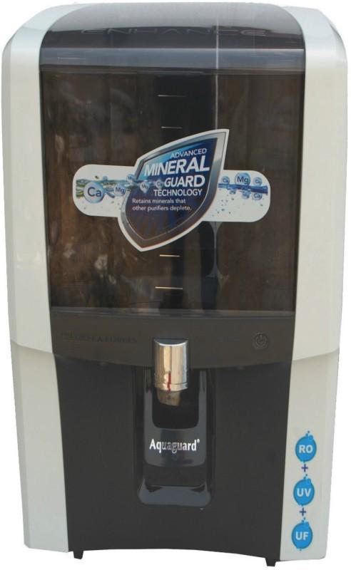 Eureka Forbes Enhance RO+UV+UF+MTDS 7 L RO + UV + UF + TDS Water Purifier(WHITE & BLACK)