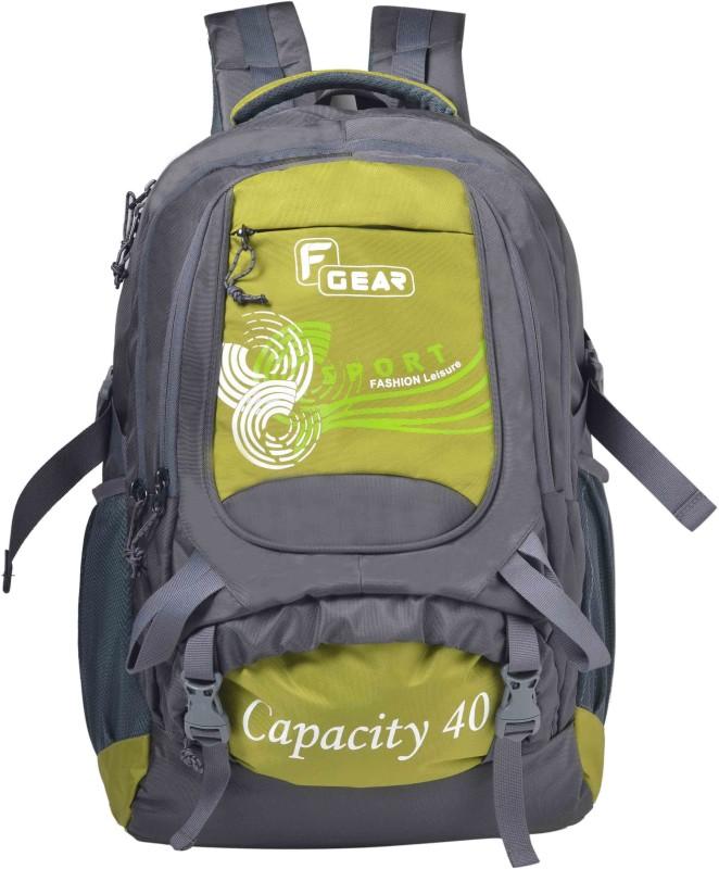 F Gear Firefly V2 40 L Laptop Backpack(Grey, Green)