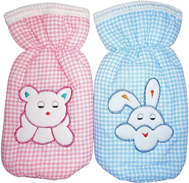 kidzvilla baby bottle cover(Pack of 2)(Pink, Blue)