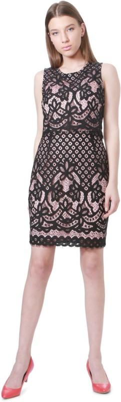 Allen Solly Women Sheath Black Dress