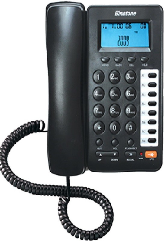 Binatone Concept 800N (Two Way Speaker) Corded Landline Phone(Black)