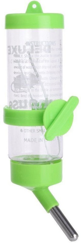 Anokhe Collections 125 ml Water Bottle for Hamster / Gerbil / Dwarf / Mice / Guinea Pig / Rabbit Round Plastic Pet Bottle(125 ml Green)