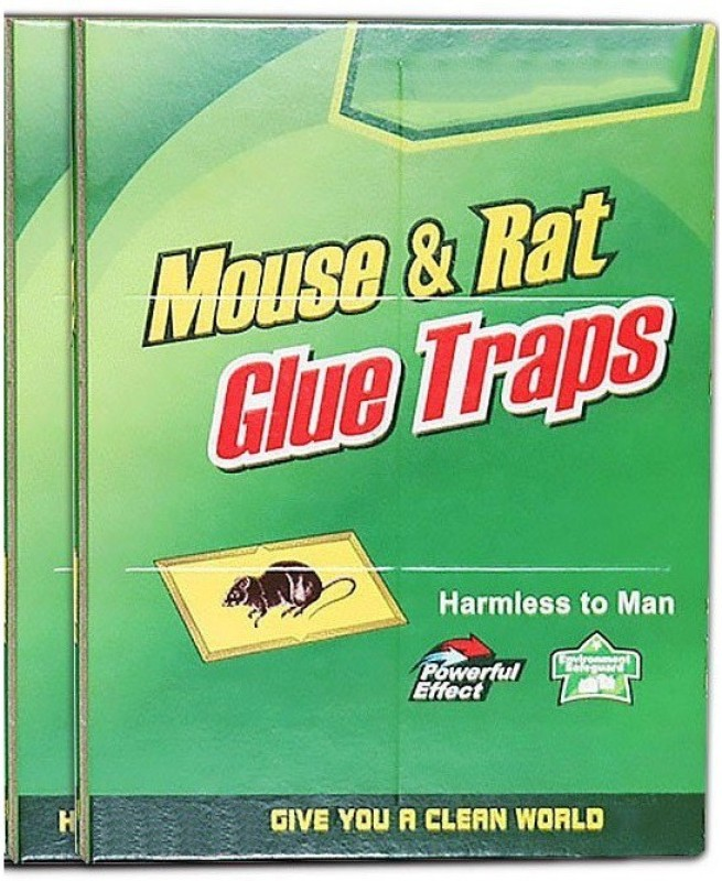 xeekart Rat and Mouse Trap Rat Glue Mouse Insect Rodent Lizard Trap Rat Catcher Adhesive Sticky Glue Rat Pad Mouse Glue PACK Of 2 Live Trap