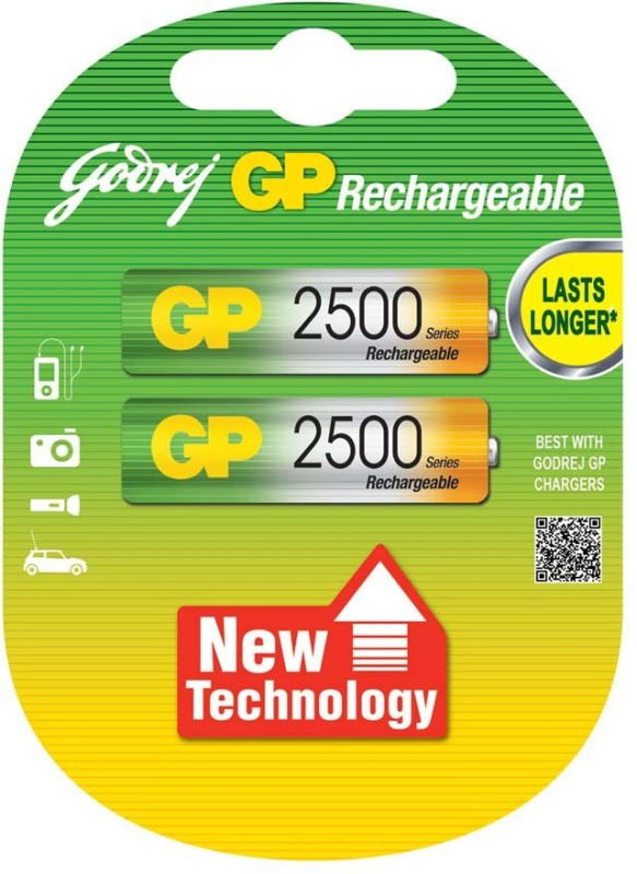 godrej gp AA 2500mAh (2 Pcs) Rechargeable Ni-MH Battery