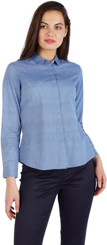 Allen Solly Women Printed Formal Blue Shirt