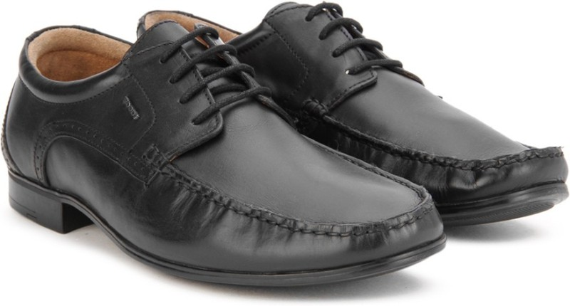 Woods by Woodland Lace Up Shoes For Men(Black)