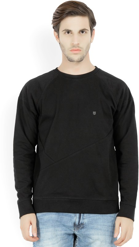 Wrangler Full Sleeve Solid Mens Sweatshirt