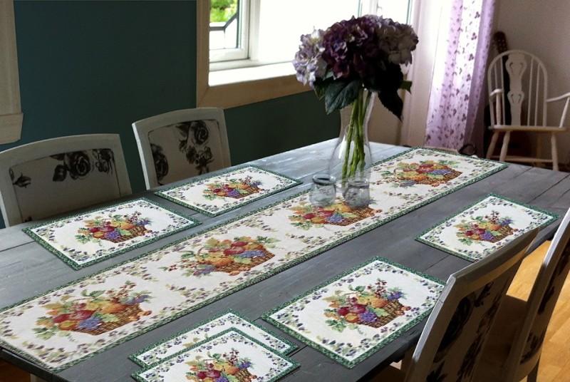 Glamkart Silver Table Linen Set(Pack of 7)
