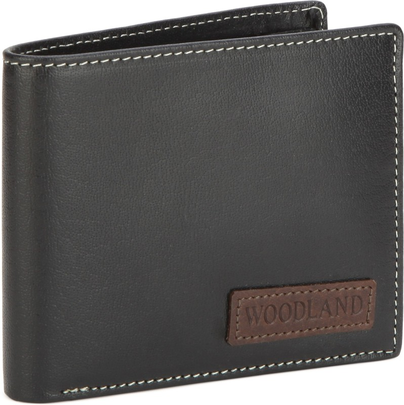 Woodland Men Casual Black, Brown Genuine Leather Wallet(4 Card Slots)