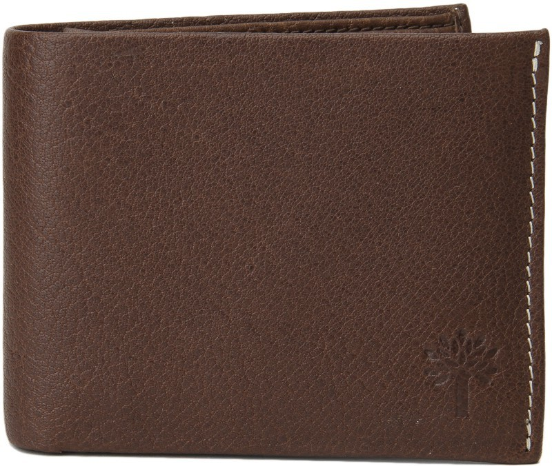 Woodland Men Brown Genuine Leather Wallet(11 Card Slots)