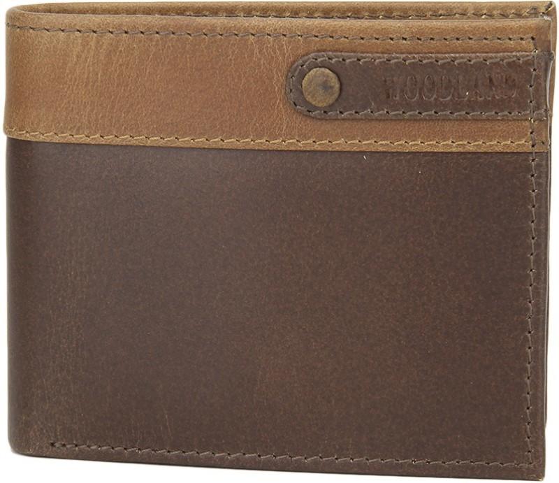 Woodland Men Brown Genuine Leather Wallet(6 Card Slots)