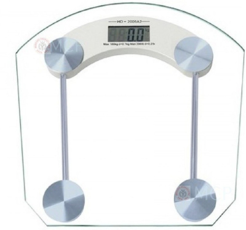 Skycandle Glass Weighing Scale Square Weighing Scale(White)