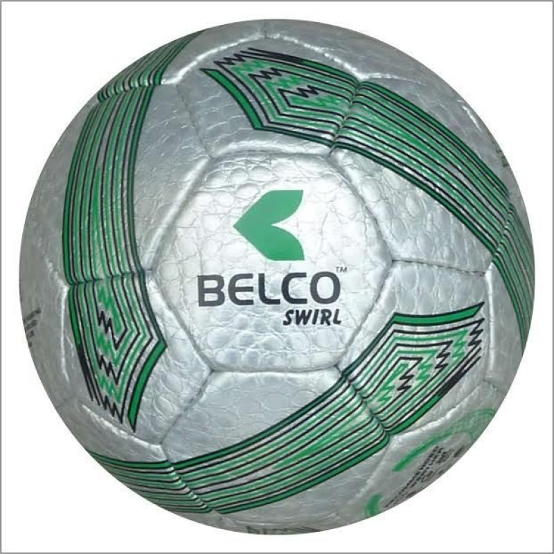 BELCO Swirl Football Football - Size: 5(Pack of 1, Silver)
