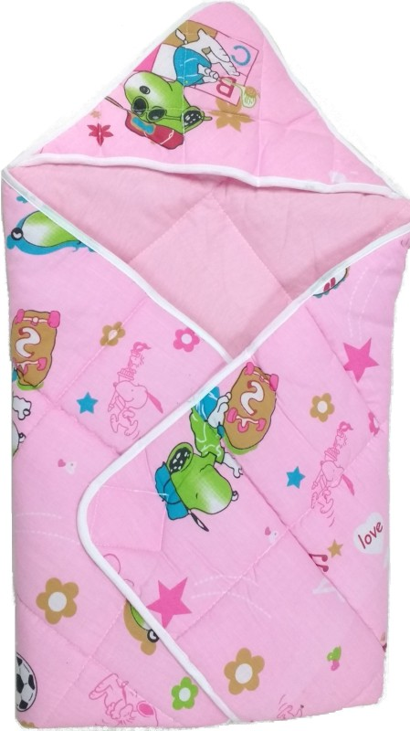 Love Baby Pink Large Bath Robe(1 Dry Robe, For: Baby Boys & Baby Girls, Pink)