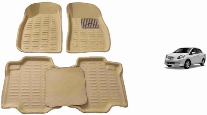 A K Traders Plastic 3D Mat For Honda Amaze(Beige)