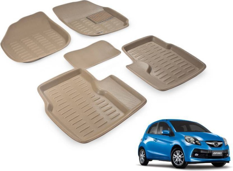 A K Traders Plastic Standard Mat For Honda Brio(Beige)