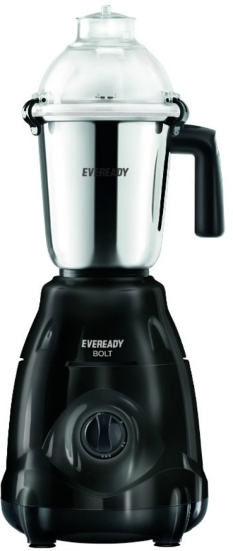 Eveready Bolt 750 W Mixer Grinder(Black, 3 Jars)