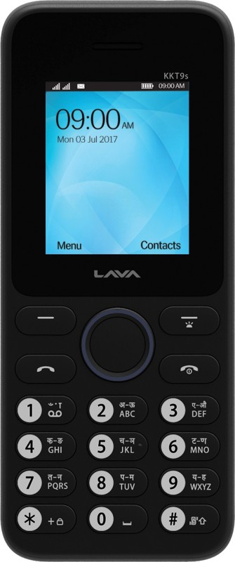 Lava KKT 9S(Black, Dark Blue) image
