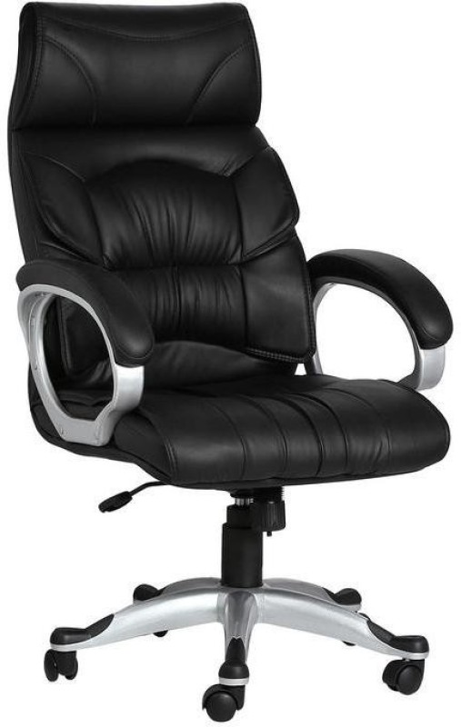 VJ Interior Leatherette Office Executive Chair(Black)