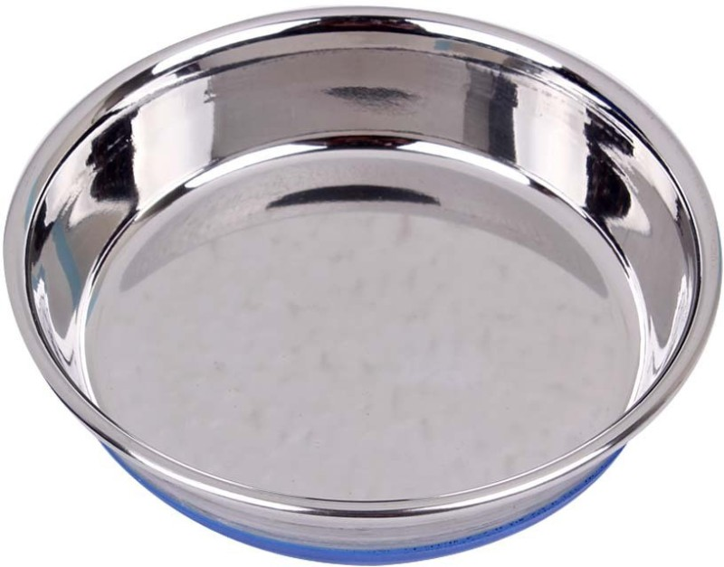 Pets Empire 1003cp13 round Stainless Steel Pet Bowl(270 ml Silver)
