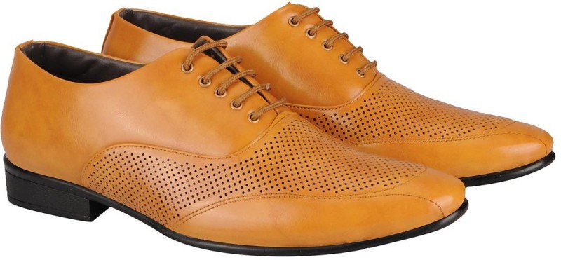 FAUSTO Mens Formal Lace Up(Beige)