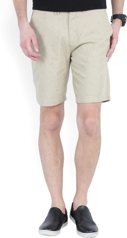 Wrangler Printed Men Beige Chino Shorts