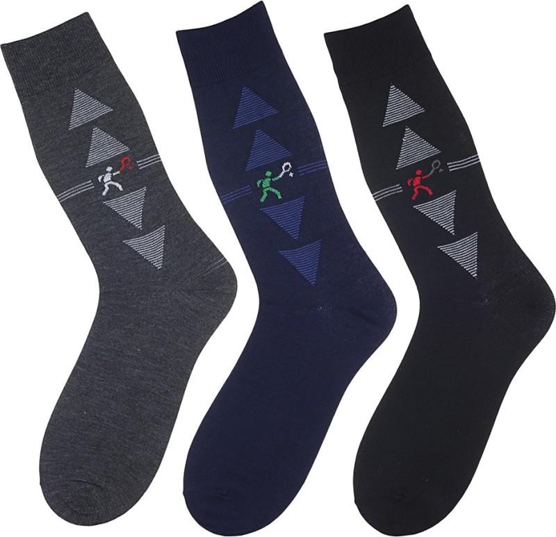 Alvaro Castagnino Men Crew Length Socks(Pack of 3)