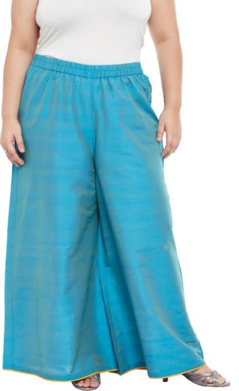 Talinum Regular Fit Women Blue Trousers