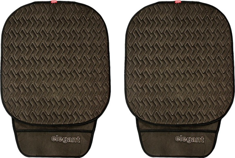Elegant Cloth Seating Pad For Honda Jazz(Driver, Co-Driver Black, Grey)