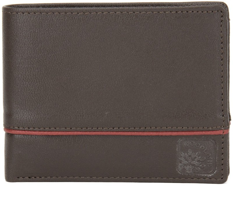 Woodland Men Brown Genuine Leather Wallet(4 Card Slots)