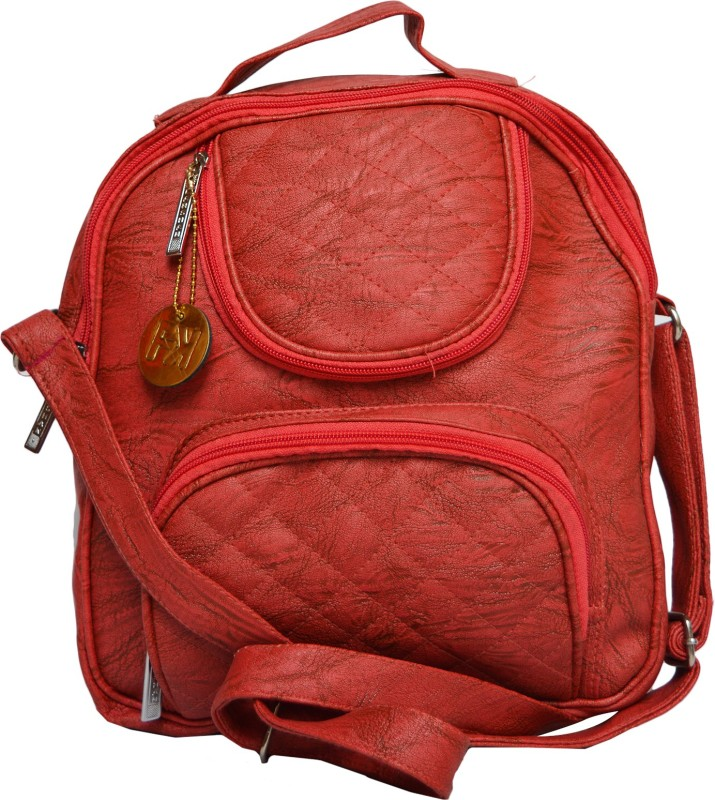 Fashion Knockout Casual College Pithu Bag/Backpack Red 6 L Backpack(Red)