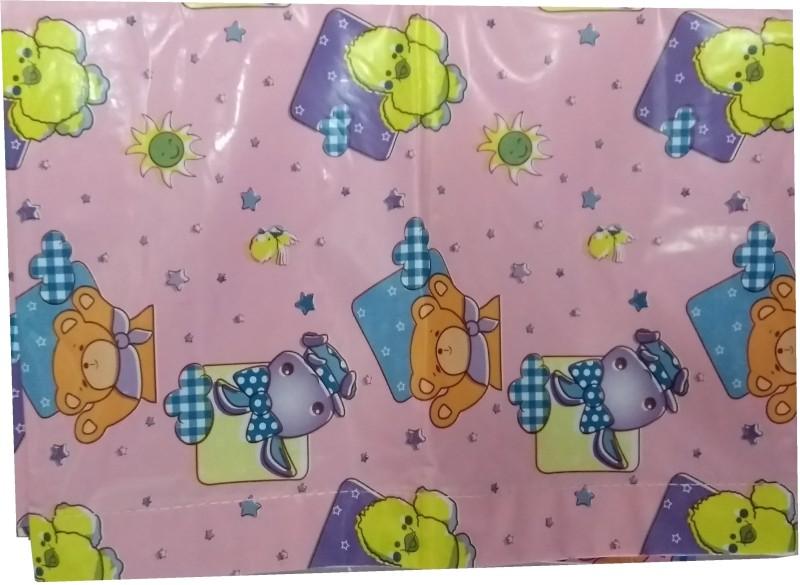 Love Baby Microfiber Crib Printed Bedsheet(Pack of 1, Pink)