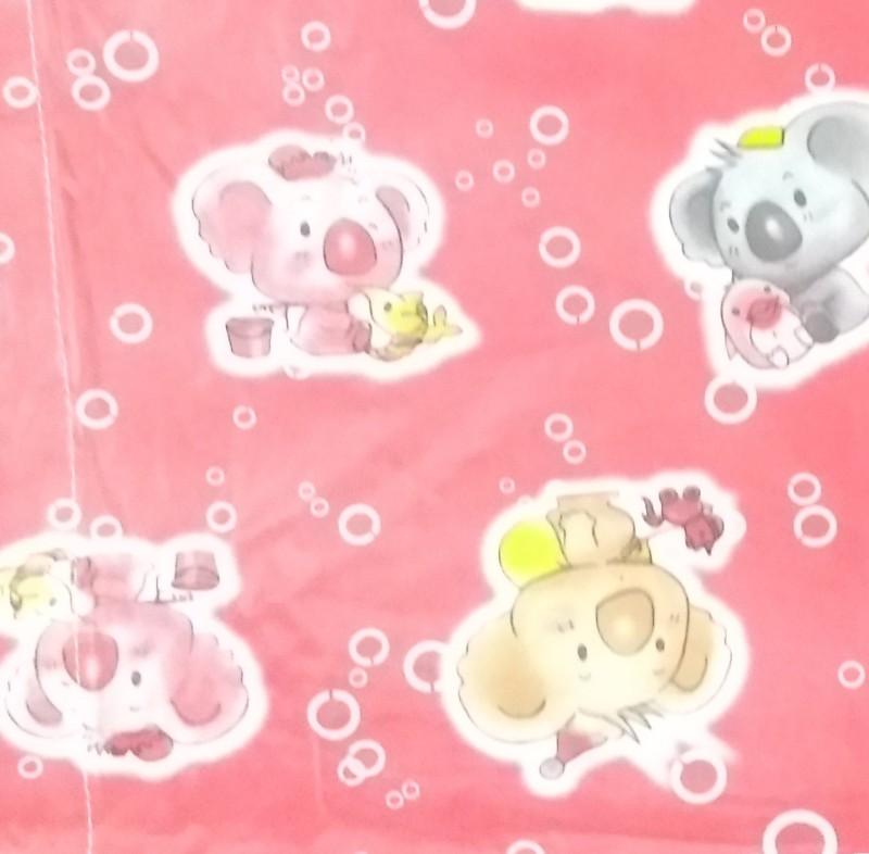 Love Baby Microfiber Single Printed Bedsheet(Pack of 1, Pink)