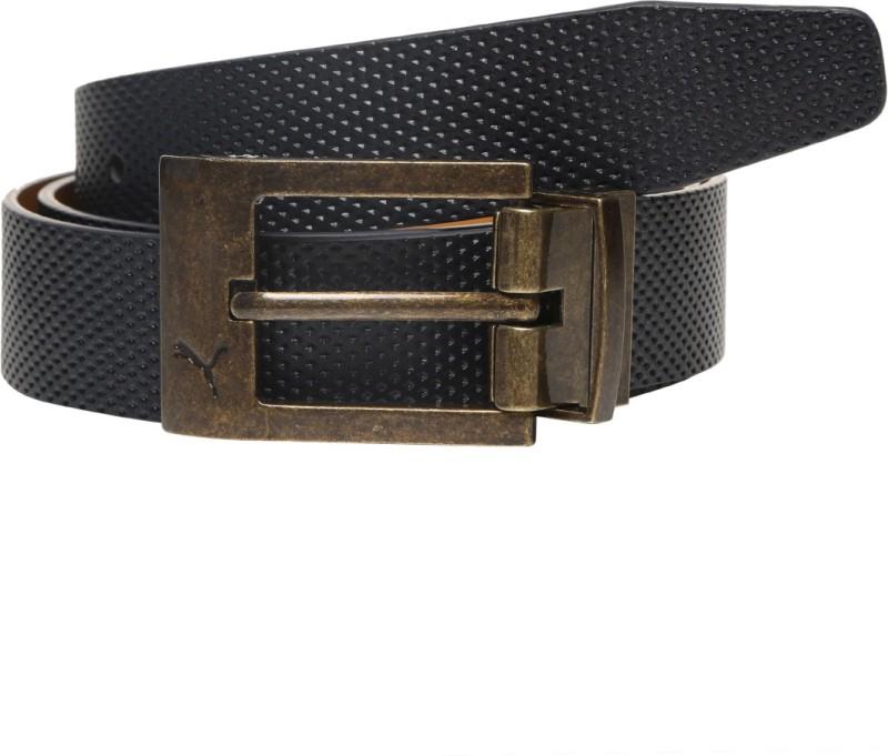 Puma Men & Women Casual Brown Genuine Leather Reversible Belt
