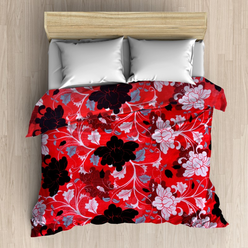 HFI Floral Double Blanket Multicolor(AC Blanket, 1 Blanket)