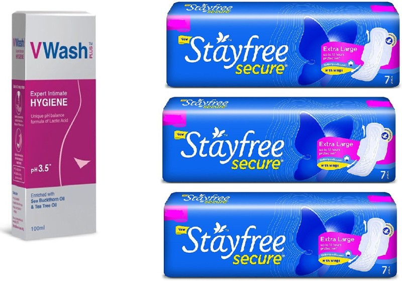 stayfree Sanitary and Intimate wash(Set of 3)