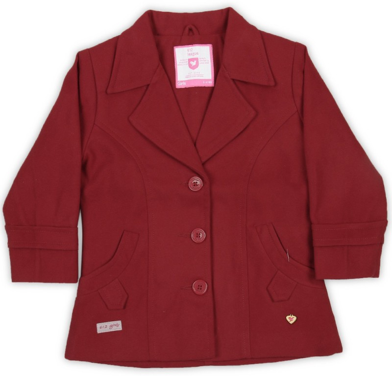 612 League Full Sleeve Solid Girls Jacket