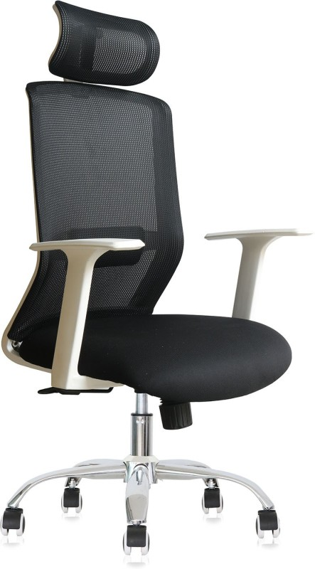 VJ Interior Fabric Office Executive Chair(Black)