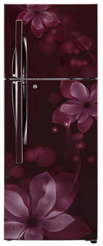 LG 260 L Frost Free Double Door Refrigerator(Scarlet Orchid, GL-I292RSOY)