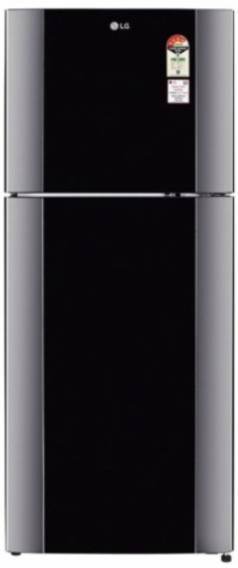 LG 407 L Frost Free Double Door Refrigerator(Diamond Black, GL-I452TDBL)