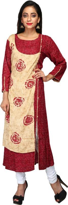 PinkLoom Printed Kurti & Leggings(Stitched)